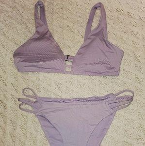 Purple shimmer bikini